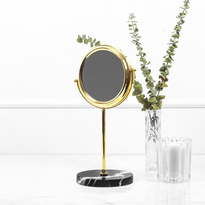 Brass Mirror with Black...