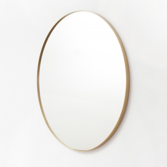 Gold Metal Round Mirror 100cm